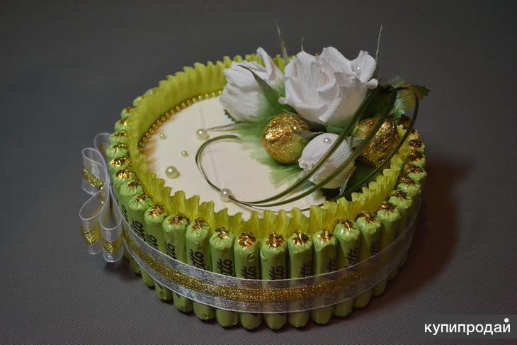 торт из конфет своими руками пошаговые фото задерживает