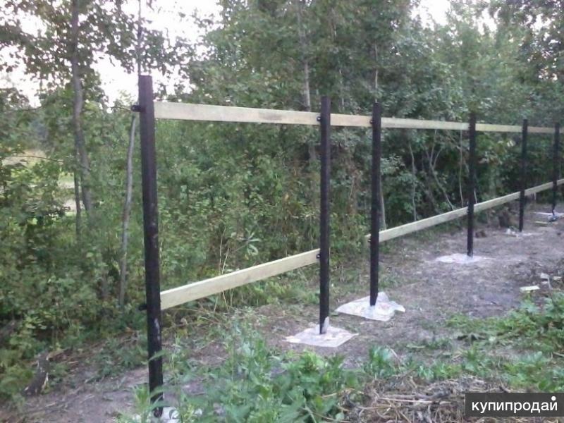 Заборные столбы, винтовые фундаментные сваи установим