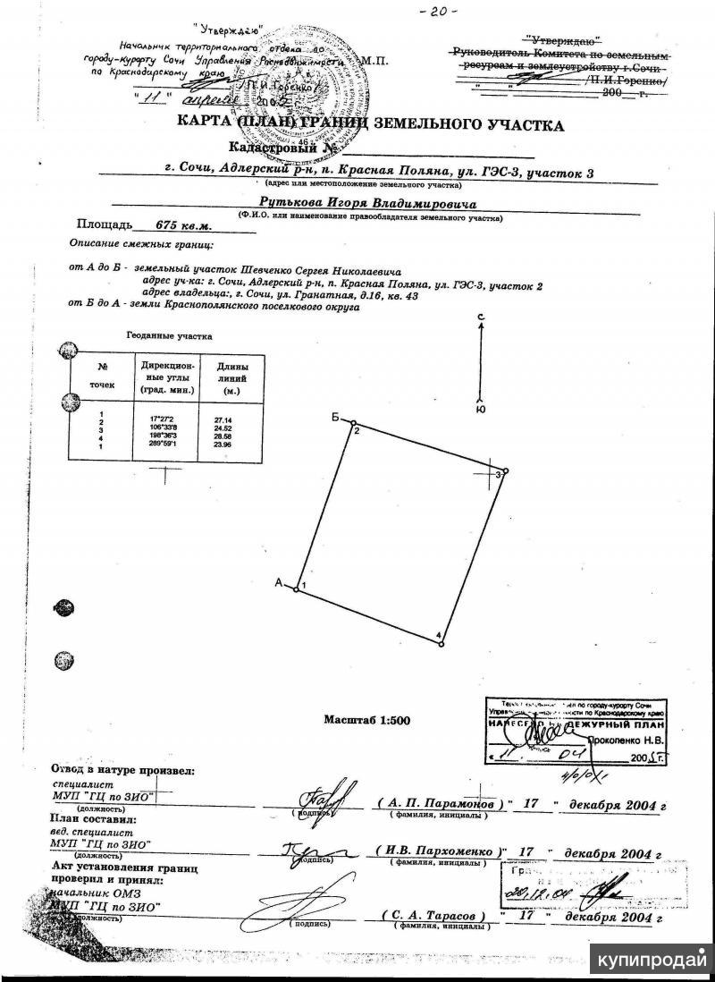 продаю земельный участок в Красной Поляне