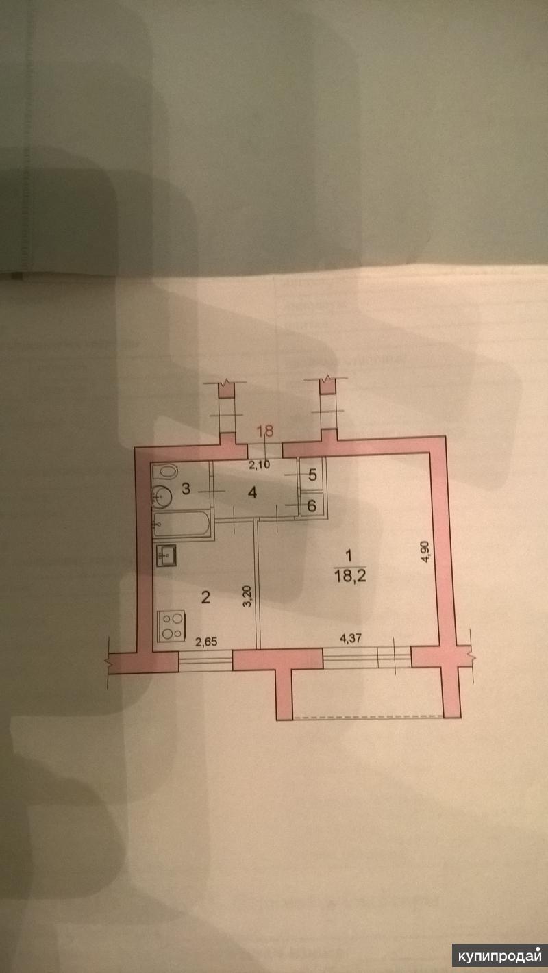 1-к квартира, 33 м2, 2/5 эт.