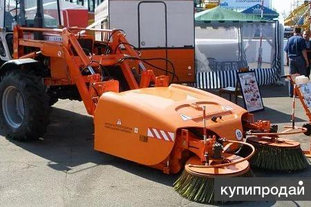 Щетка с бункером  дорожная БелДТ-8002