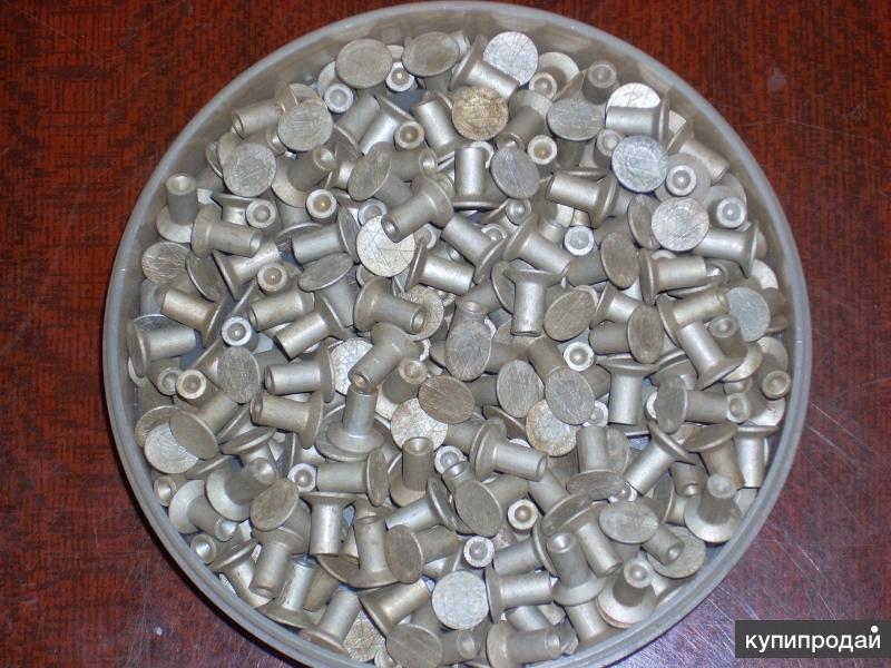 винт саморез +заклепка алюминиевая