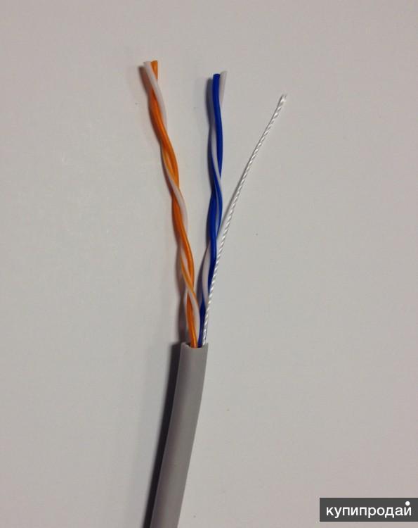Кабель сетевой витая пара UTP 24AWG 4пары CAT5e 305м внешний CCA