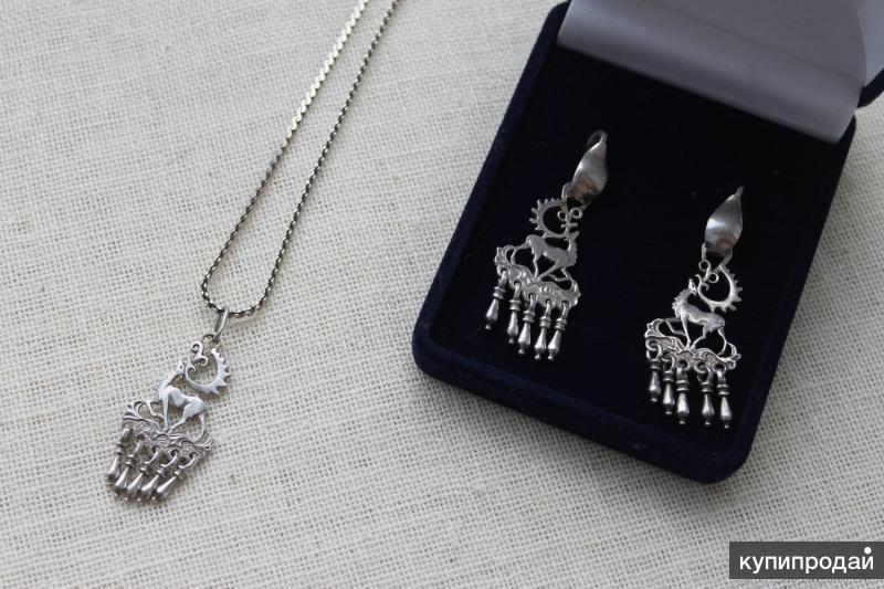 Винтажный серебряный набор