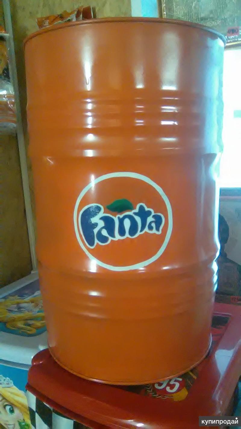 """Бочка 60 л железная дизайнерская """"Fanta"""""""