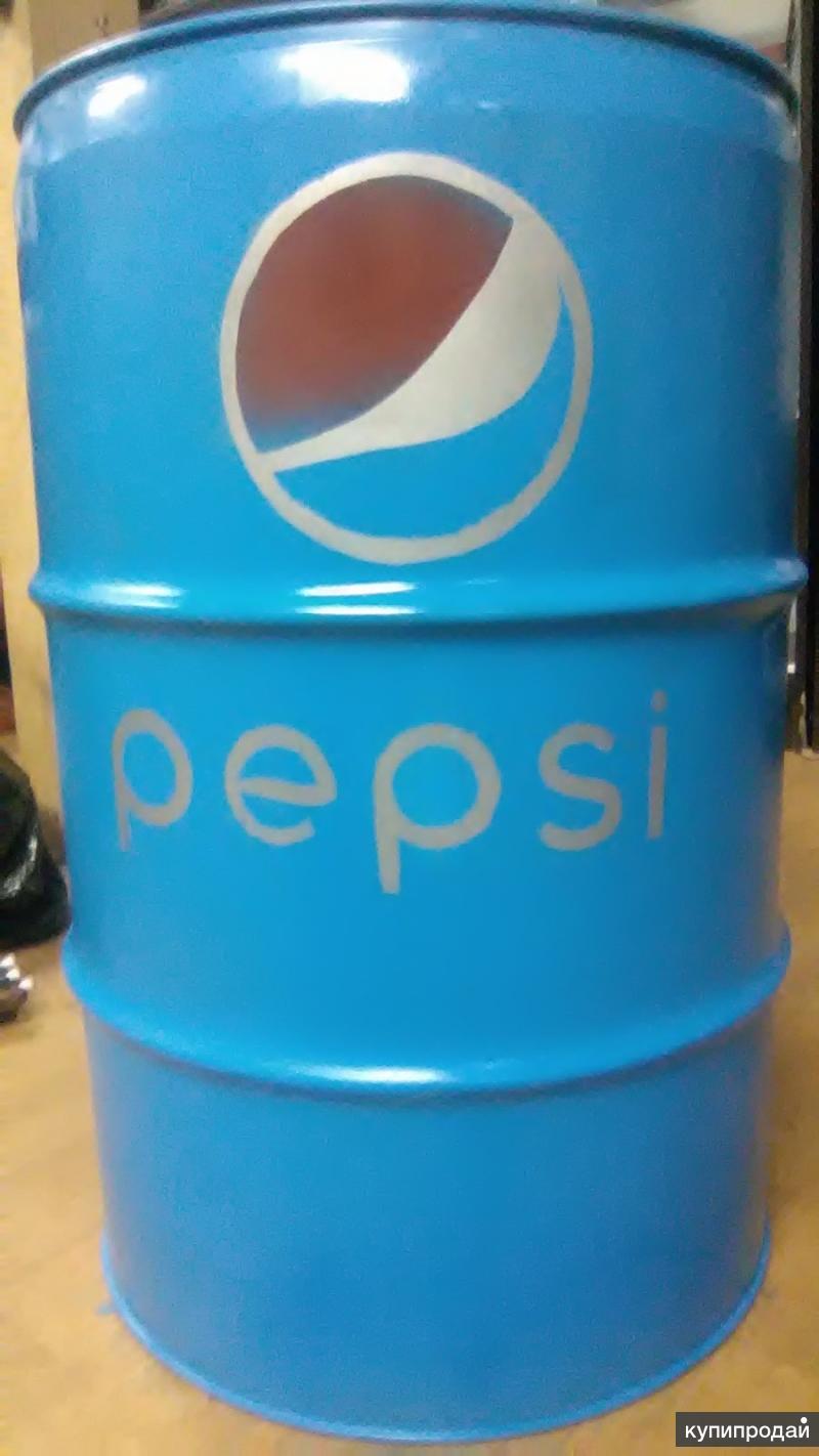 """Стальная дизайнерская бочка 60 л """"Pepsi"""""""