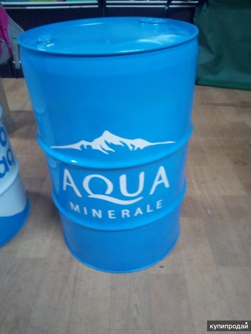"""Железная дизайнерская бочка 60 литров """"AquaMinerale"""""""
