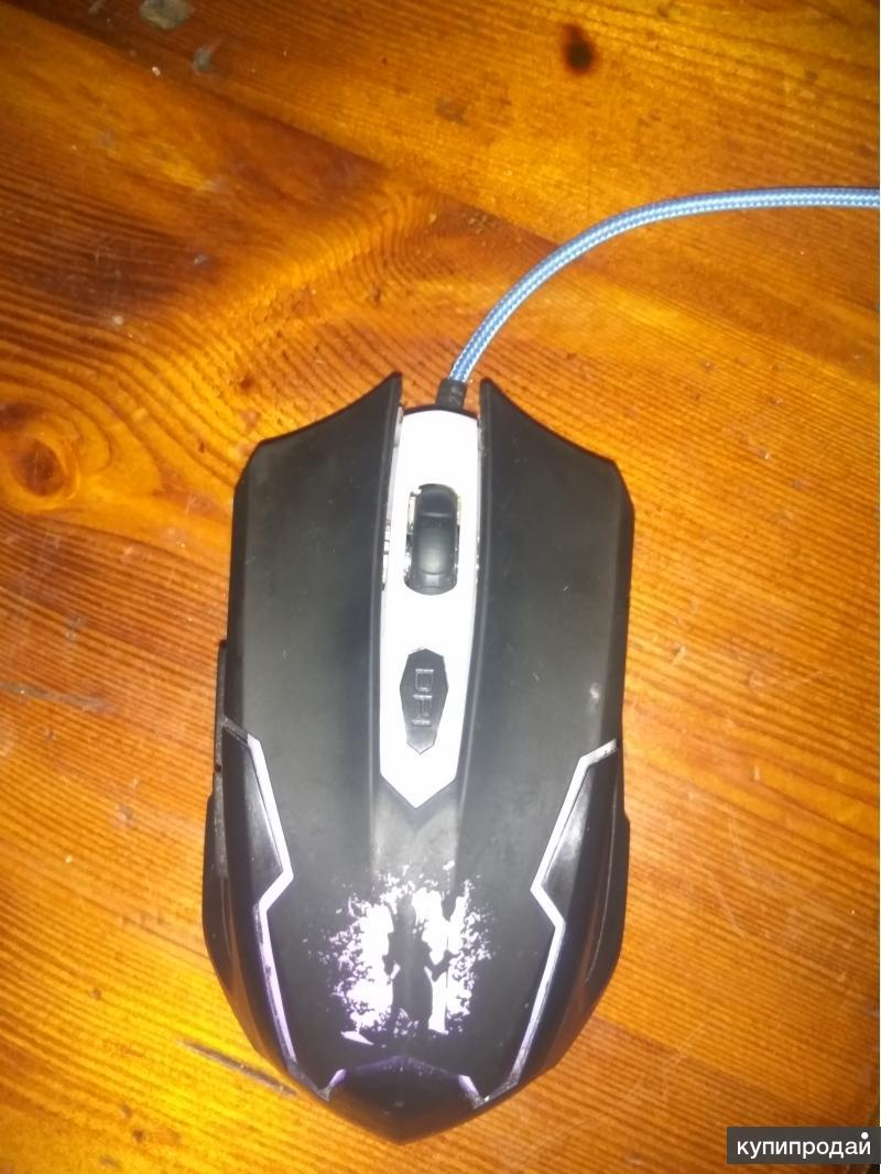 Игровая Мышь для пк, с подцведкой.