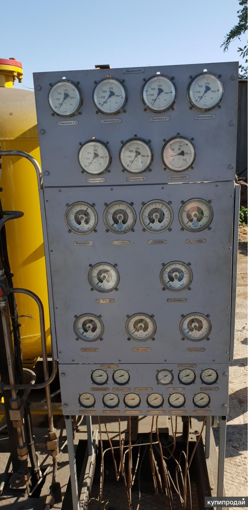 Газовый поршневой компрессор с хранения