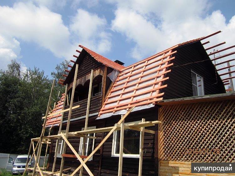 Замена крыши в старом деревянном доме Пензы