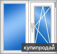 Окно ПВХ (брежневка)  1250х1520, новое