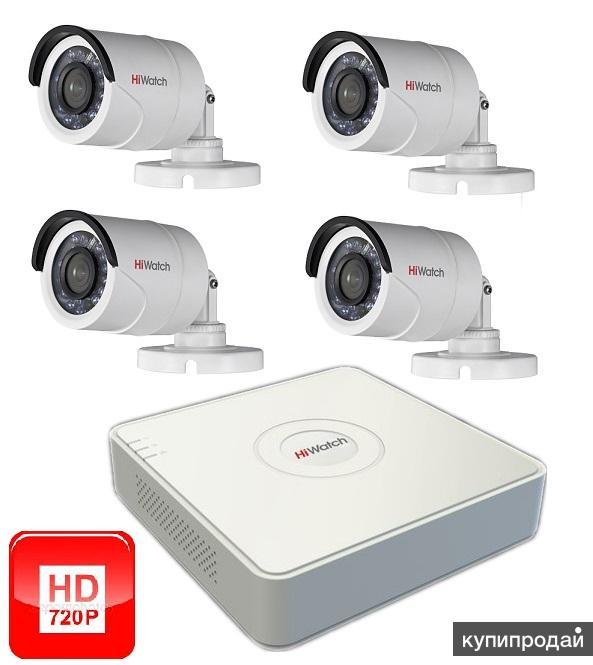 Новый HD Комплект из 4 уличных камер видеонаблюдения