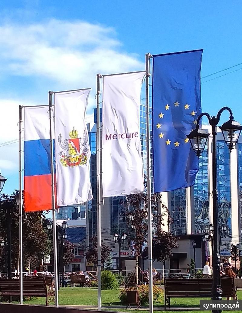 Акция в сентябре на изготовление уличных флагов