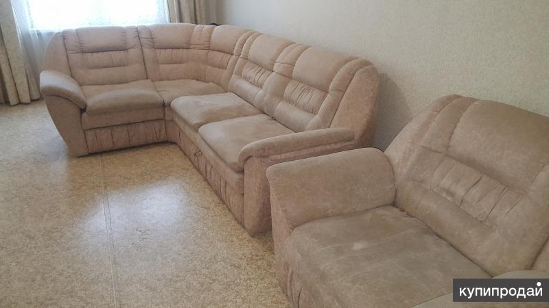 Угловой раскладной диван с креслом