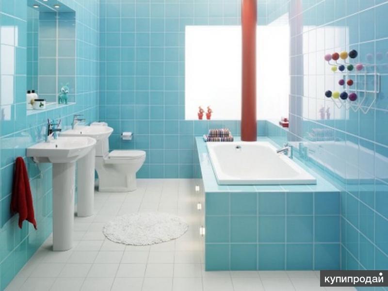 Ремонт в ванной .