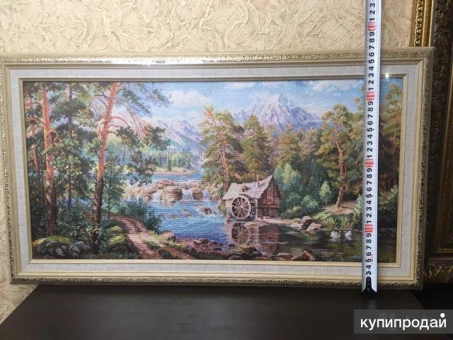 Ручная вышивка (счетный крест)- Пейзаж (картина)
