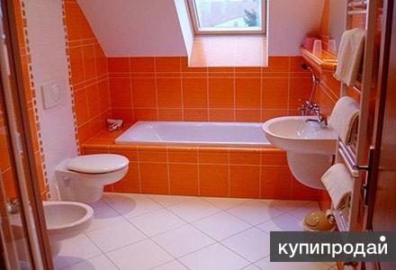 Ремонт ванной и туалета. Кладка плитки