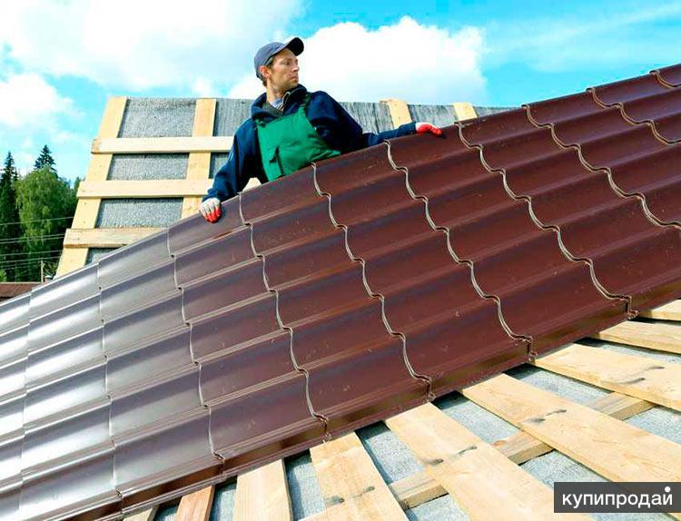 Монтаж металлочерепицы, строим крыши, меняем кровлю