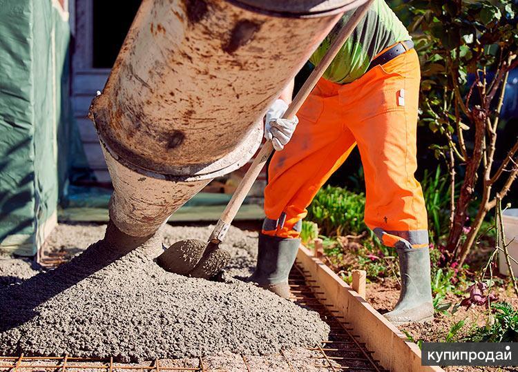 Бригада по бетонным отмосткам, бетонирование вокруг дома