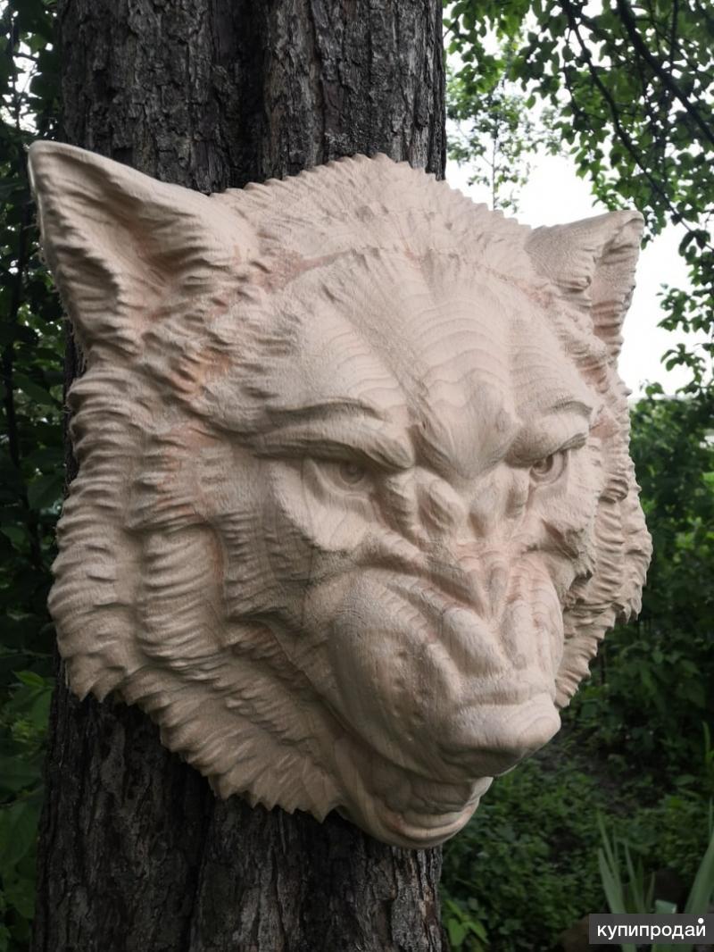 Панно голова волка