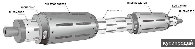Пневмоадаптер (пневмопереходник) с 76 мм на 152 мм