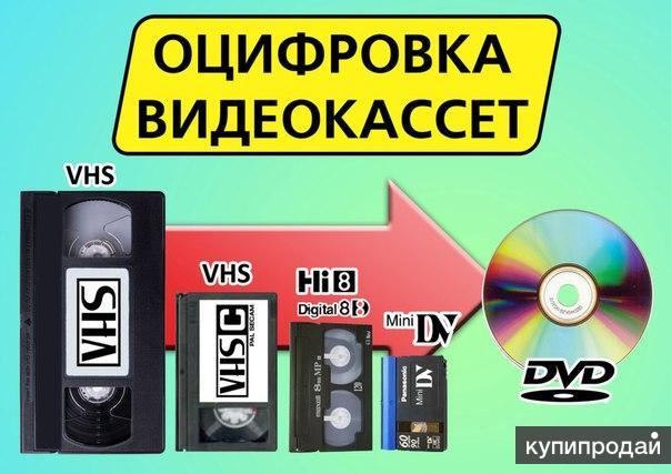 Оцифровка всех бытовых форматов видеокассет