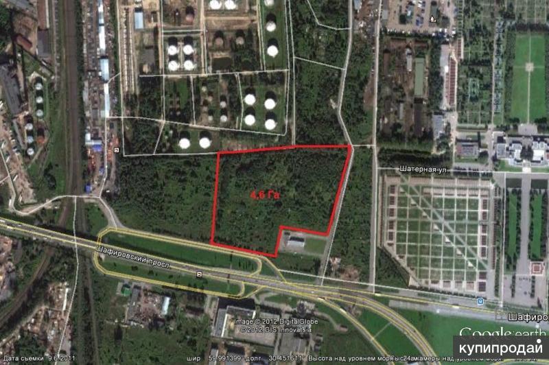 Продам земельный участок 4.6 га под Склад,Распределительный центр.Завод
