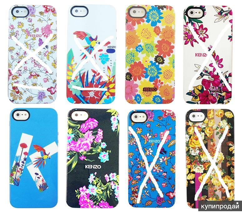 Чехлы накладки Kenzo Кензо силиконовые для iPhone 5 / 5s