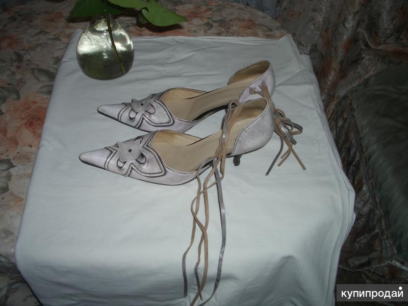Туфли женские розово-серые 40 размер