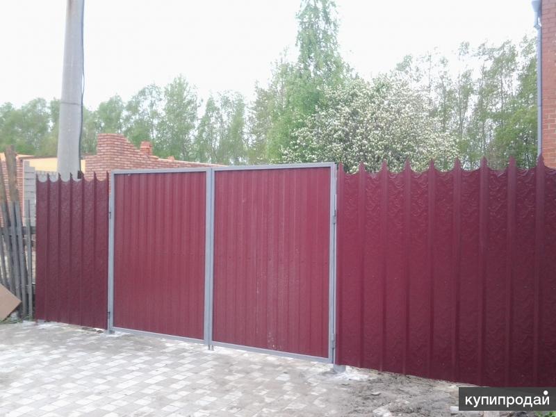 Производство стальных ворот омск металл на забор