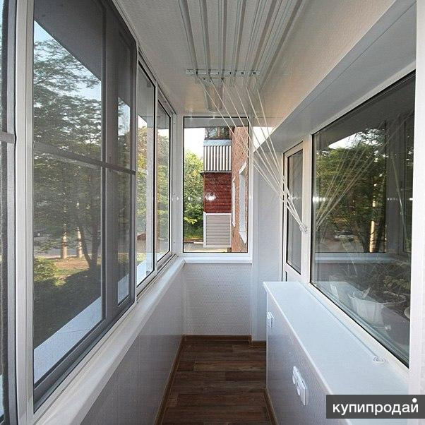 Установка окон, остекление балконов
