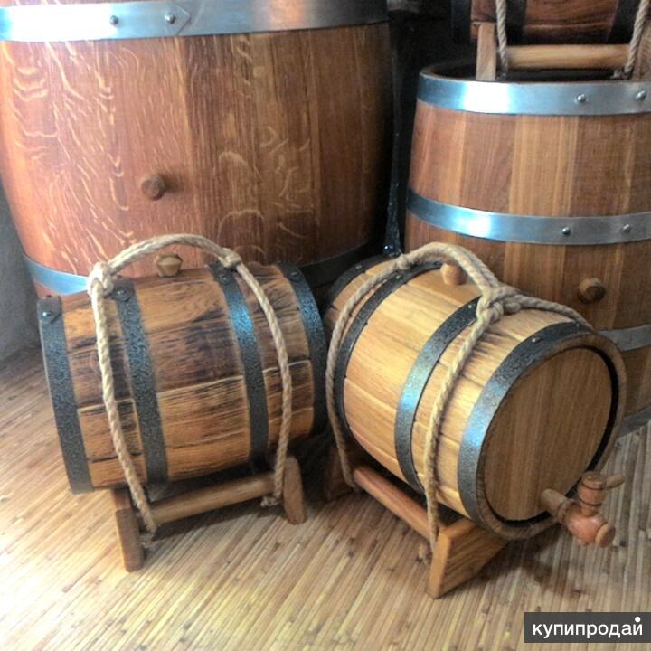 Бочка дубовая 3 литра жареная для вина и самогона