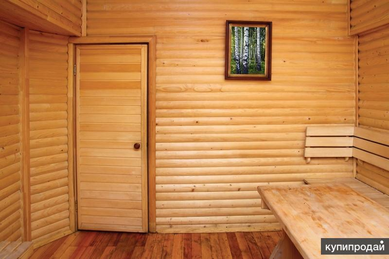 Дверь деревянная банная из липы
