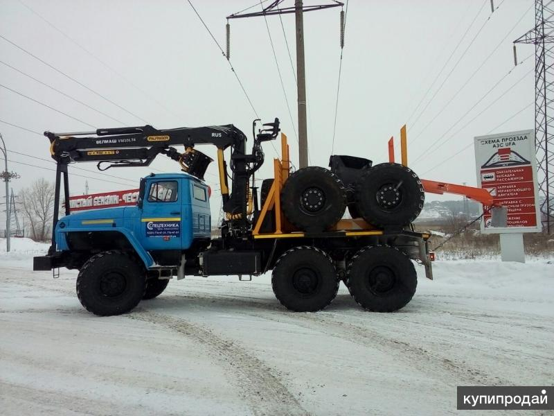 Лесовоз Урал 55571 (285 л.с.) с манипулятором VM10L В наличии Цена Купить