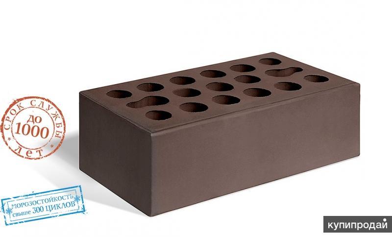 Кирпич керамический лицевой пустотелый утолщённый шоколад