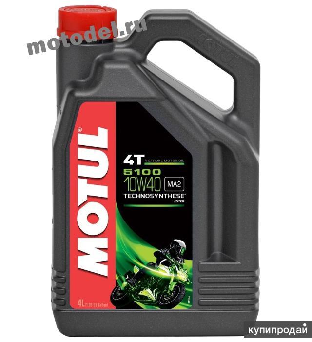 Моторное масло для мотоциклов Motul 5100 4T 10W-40, 4 литра