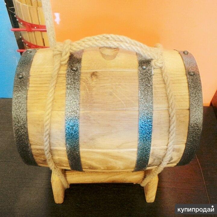 Дубовая бочка 5 литров жаренная для коньяка и вина