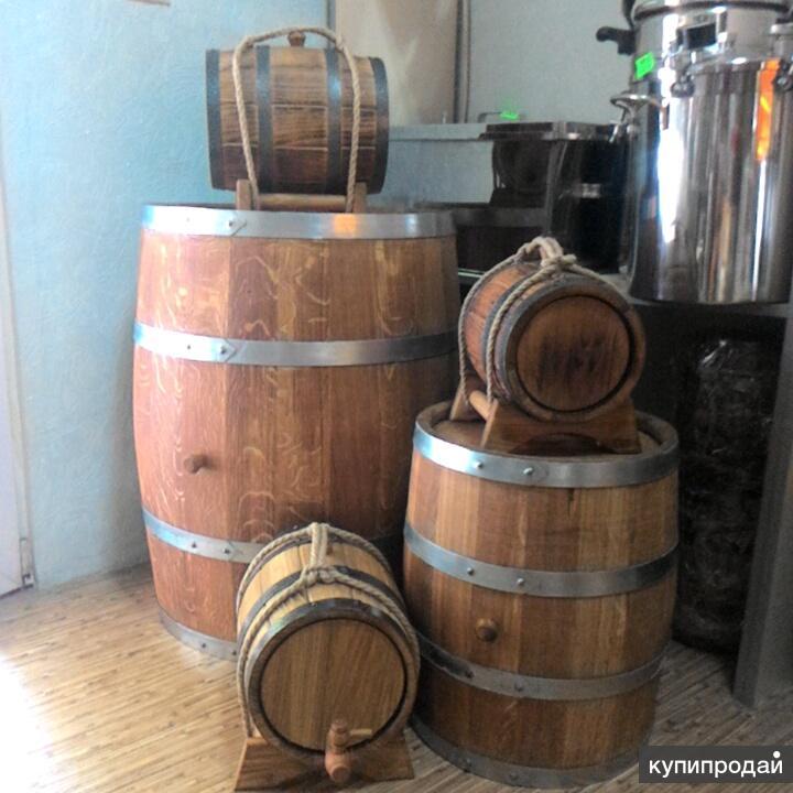 Дубовая бочка 10 литров для вина и самогона