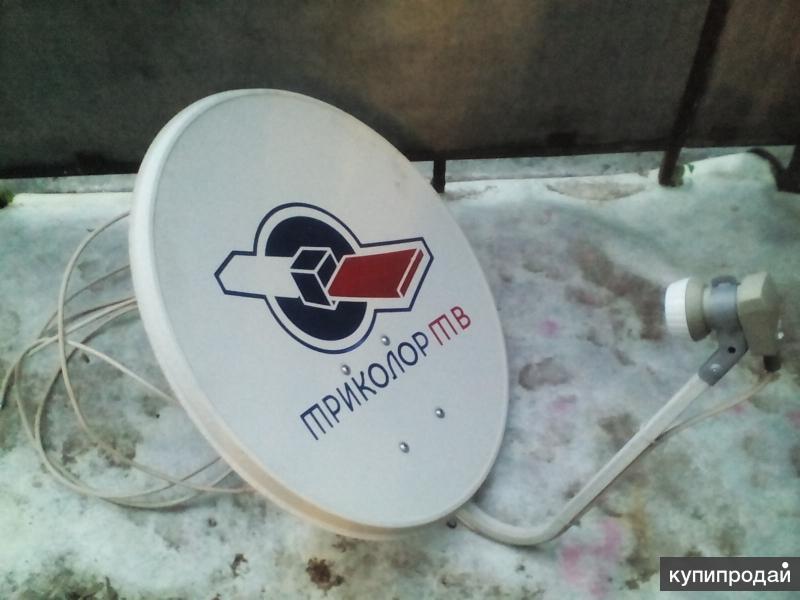 Ресивер Триколор ТВ со спутниковой тарелкой