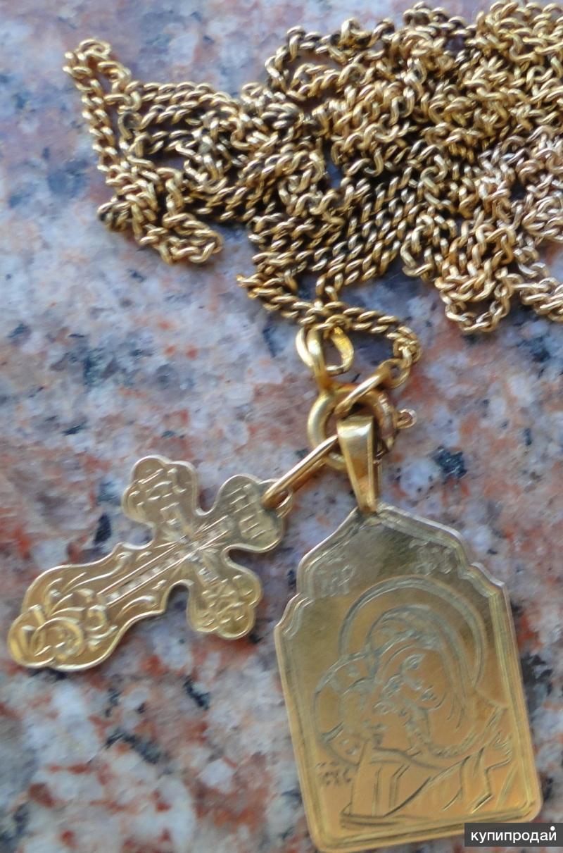 Золотой нательный образ Божiей Матери Игоревская