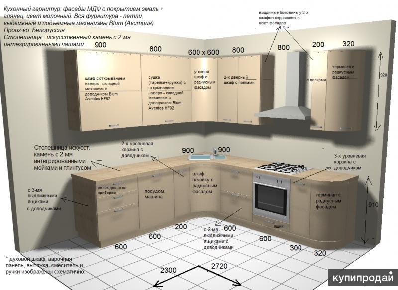 Продажа нового кухонного гарнитура со скидкой