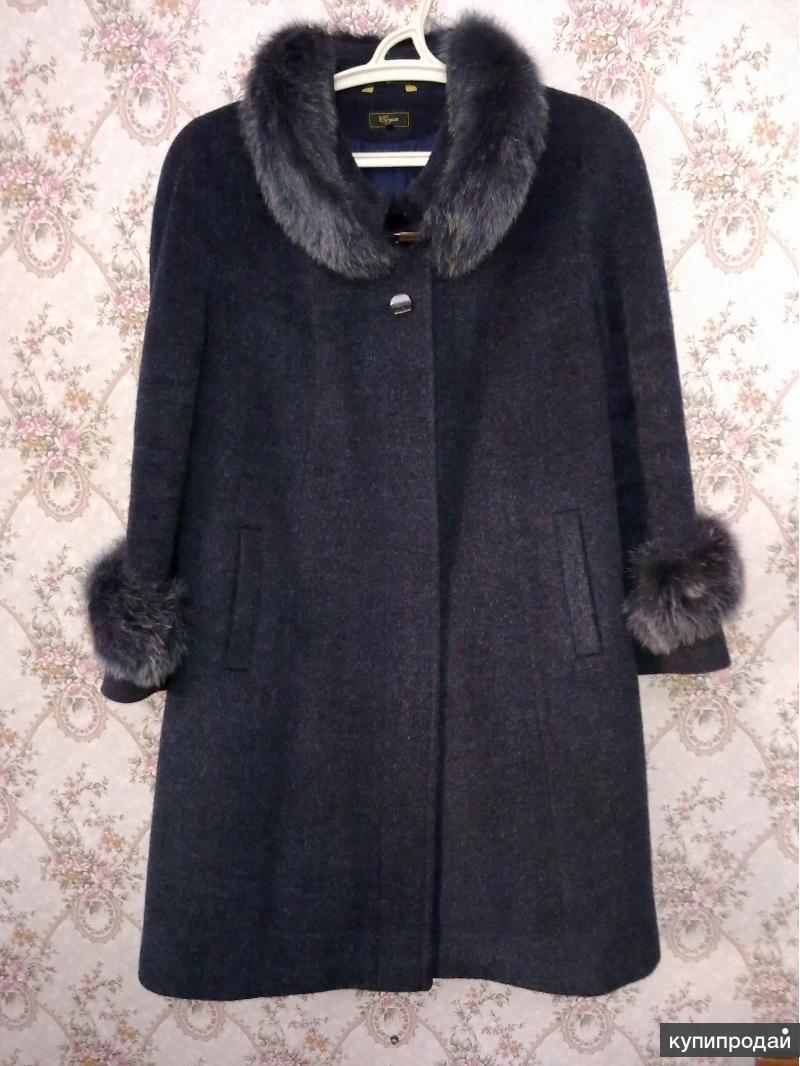 Пальто Демисезонное. Темно синее.