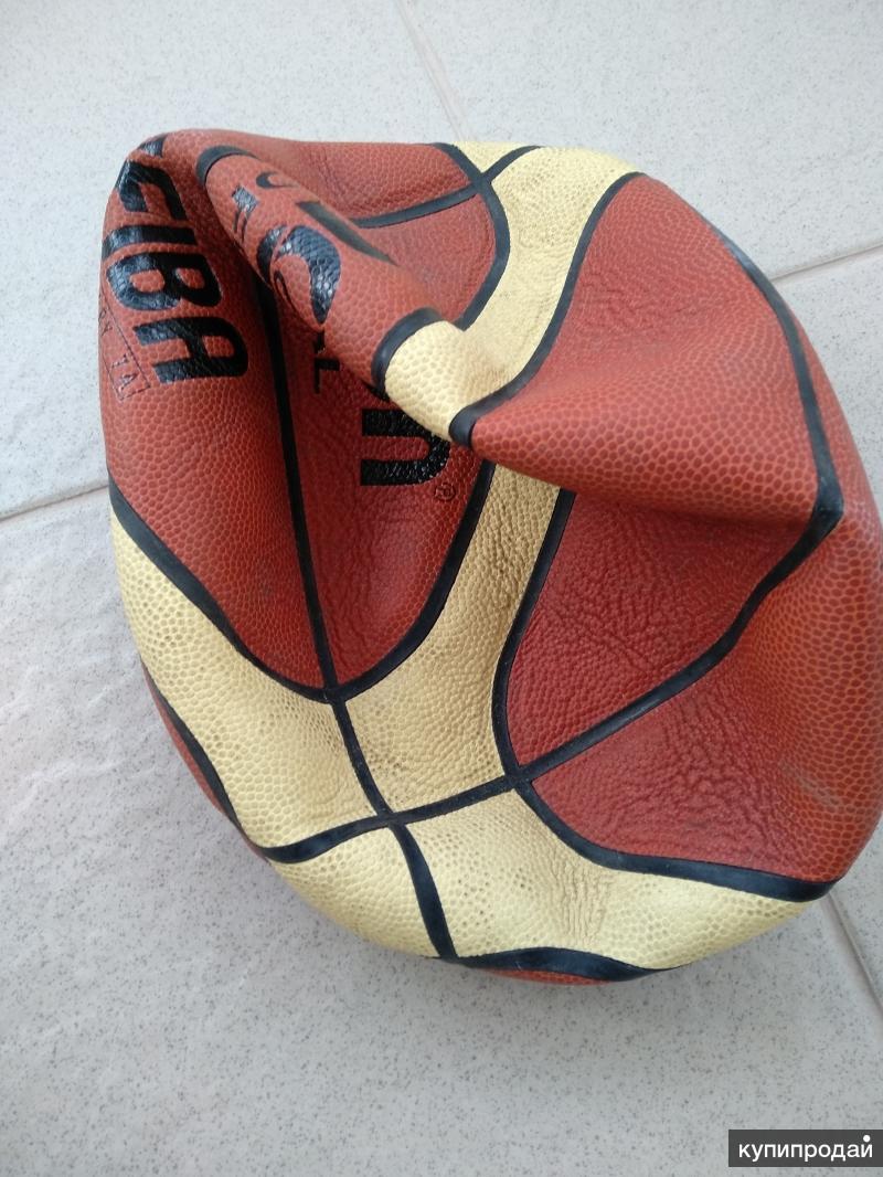 Баскетбольный мяч кожаный