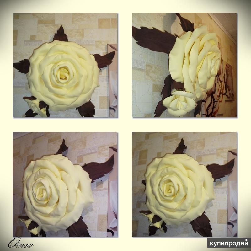 Роза на стену (ручная работа)
