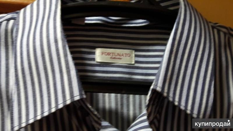 мужская рубашка в полоску