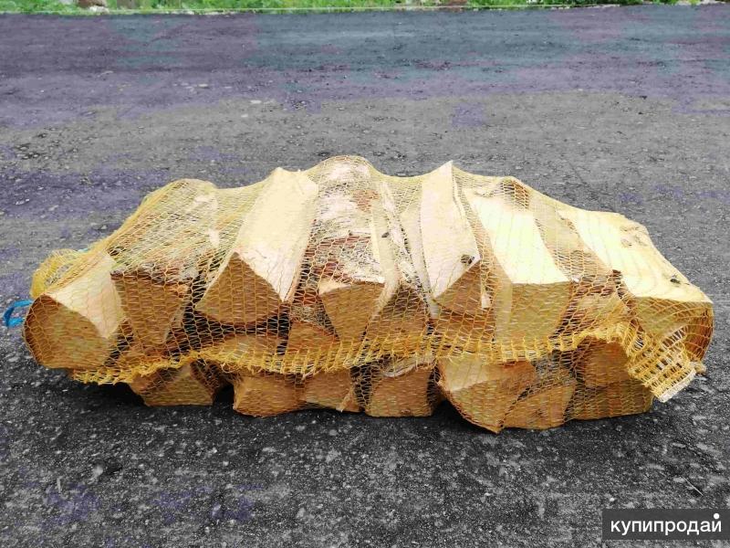 Продажа дров берёзовый в сетках 40 литров