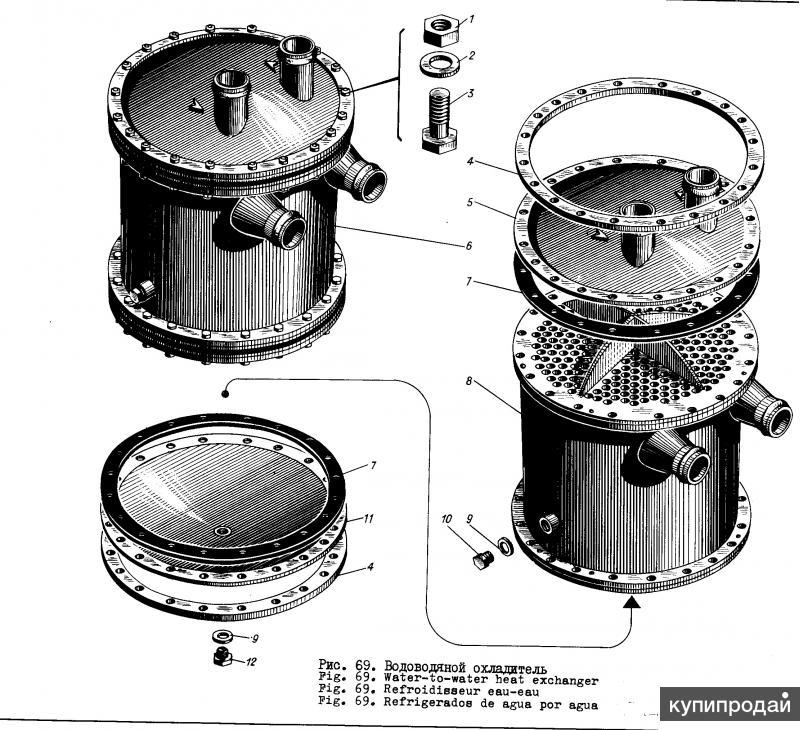 3Д6 3Д12 Охладитель водяной СБ575-00-10-1
