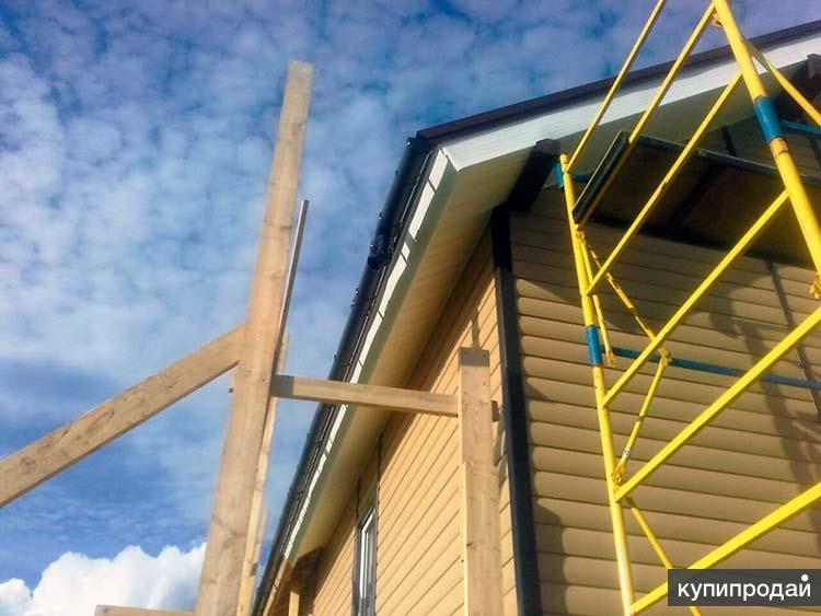 Монтаж металлосайдинга, блок-хауса, фасадные работы в Пензе