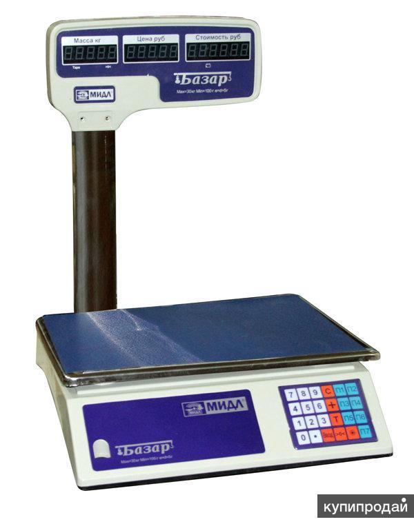 Весы торговые электронные Мидл Базар 2.1