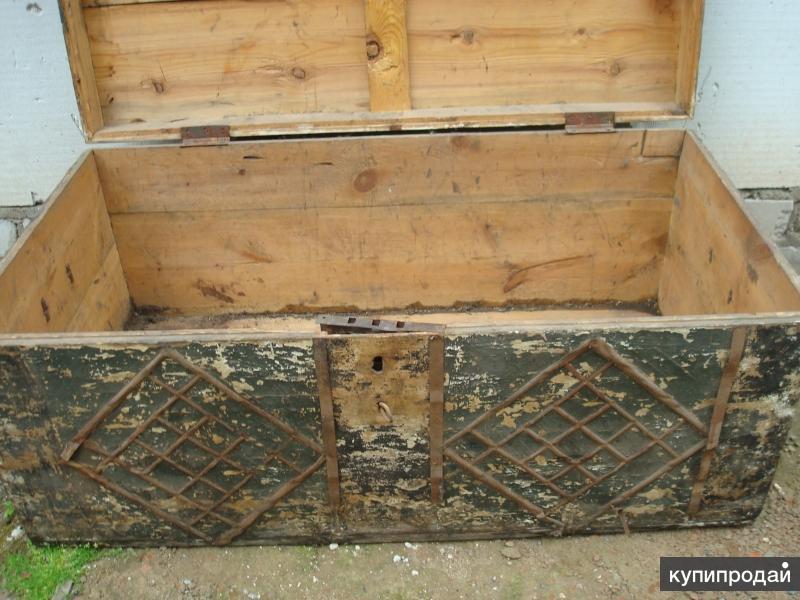 старыи сундук 1900г высота 40 длина 95 глубина 50 продам